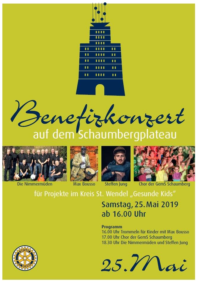 """Benefizveranstaltung der Rotarier im Kreis St. Wendel zugunsten des Projektes """"Gesunde Kids"""""""